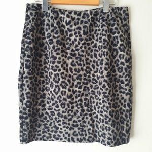 CAbi Leopard Print Skirt